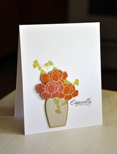 Especially For You Card by Maile Belles for Papertrey Ink (July 2012)