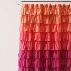 Girly Flamenco Shower Curtain-Anthropolgie