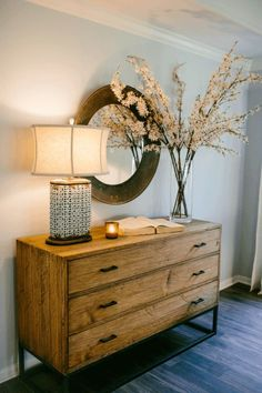 """FixerUpper2.1_17Joanna used the same calming blue color """"Misty"""" throughout the entry, dining, living, and kitchen at the request of her clients."""