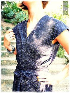 aimecommemarie: Ma robe croisée