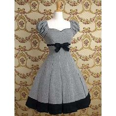 mary magdalene checkered classic lolita dress