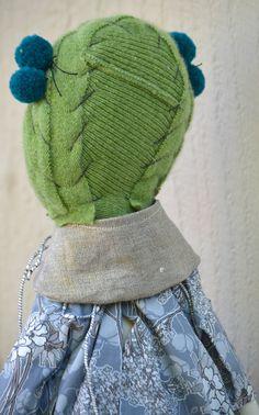 jess brown handmade rag doll with liberty blue by ChalkFarmHome