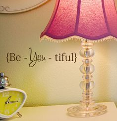 Be You tiful vinyl decal sticker wall word quote, Beyoutiful ,Beautiful fashion decals. $9.00 USD, via Etsy.