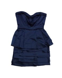 BCBG Max Azria Navy Cotton Layer Dress