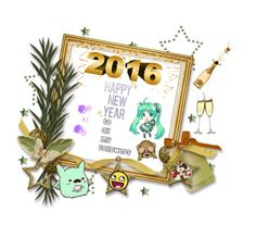 """""""Happy New Years """" by angelesrodiguez ❤ liked on Polyvore featuring art"""