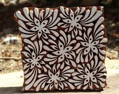 wooden block stamps 6 * 6 inches wooden printing block textile printing block hand made hand carving printing block( hand carved) Painting Wallpaper, Fabric Painting, Diy Painting, Block Printing Designs, Carpet Underlay, Handmade Wooden, Handmade Gifts, Fabric Stamping, Scrapbook Designs