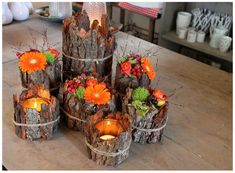 Enjoy the autumn colors with spectacular DIY decoration ideas .- Genießen Sie die Herbstfarben mit spektakulären DIY Deko Ideen – Beste Dekoideen Enjoy the autumn colors with spectacular DIY decoration ideas – best decoration ideas - Fall Crafts, Diy And Crafts, Christmas Crafts, Christmas Door, Recycled Crafts, Creative Crafts, Thanksgiving Decorations, Christmas Decorations, Christmas Candles