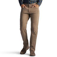 Men's Lee Extreme Motion Pants, Size: 34X34, Dark Brown