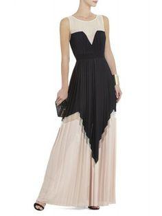 Marina Tiered A-Line Cocktail Dress Bcbg
