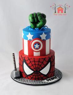 - Where pop culture and food meet. Avenger Party, Avenger Cake, Avengers Birthday Cakes, Superhero Birthday Cake, Spiderman Birthday Cake, Superhero Party, Marvel Cake, 4th Birthday Parties, 5th Birthday
