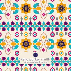 A Moroccan inspired pattern by Pattern Camper & Surface Pattern Designer Kelly Parker Smith.
