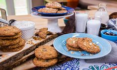 Chef Marcel Cocit's makes his famous dark chocolate, oatmeal, and coconut Love at First Bite cookies! #cookies #love #homeandfamily #homeandfamilytv