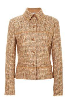 Gold metallic boucle jacket