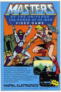 """Mattel ""Masters of the Universe - The Power of He-Man"" video game, 1983.  """