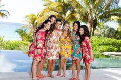 Real life Sample - Bridesmaids Robes made From C7  Fabric Pattern