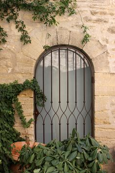 The House That Lars Built.: Provence--Gordes Window Grille is wonderful. Railing Design, Gate Design, Door Design, Iron Window Grill, Window Grill Design, Window Protection, Burglar Bars, Fachada Colonial, Wrought Iron Doors