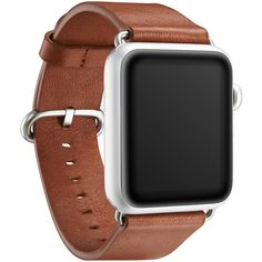 """KAVAJ genuine leather watch band """"Barcelona"""" for Apple Watch Series 1 & 2 42mm in cognac-brown. This genuine leather replacement watch strap with classic buckle makes the ideal accessory."""
