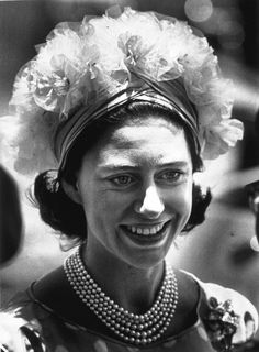 Candid of Princess Margaret during celebration for Jamaican Independence