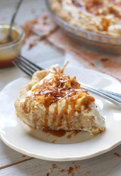 toasted coconut caramel cream pie.