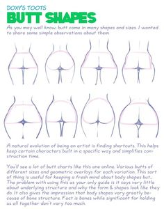 AnatoRef — How to Draw a Damn Fine Ass Top Image, Row 5 & 6...