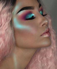 Gorgeous green - Highlighter Used: Lime Crime Hi-Lite Mermaids Palette, in Mermaid Makeup Inspo, Makeup Art, Makeup Inspiration, Beauty Makeup, Eye Makeup, Hair Makeup, Kids Makeup, Hair Beauty, Little Mermaid Makeup