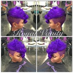 Women's hairstyles for short hair in the style of the Iroquois began to actively exploit the stars, so eager to isolate themselves from the total number of mass Quick Weave Hairstyles, Pretty Hairstyles, Girl Hairstyles, Curly Hair Styles, Natural Hair Styles, Pixie Styles, Short Styles, Locks, Hair Shows