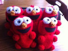 Baby Elmo's :) Baby Elmo, Crochet Hats, Beanie, Knitting Hats, Beanies, Beret