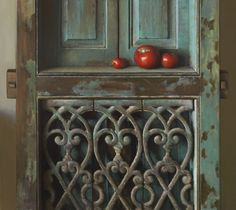 Teal door and red apples from chasingtailfeathers: Jeffrey T. Larson