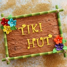 A fun treat for a summer party. Tiki Hut Brownie from The Partiologist: It's Tiki Time!