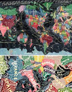 Creative Cartography: 15 Artists Transforming Maps