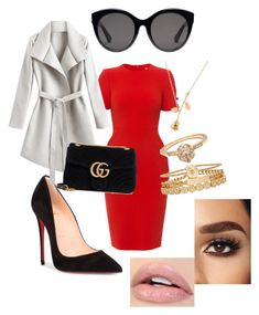 """""""Untitled #25"""" by sharon-s-molnar on Polyvore featuring L.K.Bennett, Christian Louboutin, Gucci and Treasure & Bond"""