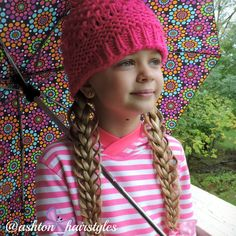 feathered pigtails on this rainy day.