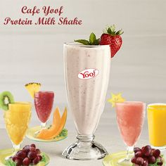 """""""Protein Milk Shake"""" Cafe Yoof present First time in India. Cafe Yoof franchise Available in India. Cafe Yoof For more details Contact: Protein Milkshake, Flavored Milk, First Time, India, Tableware, Goa India, Dinnerware, Tablewares, Dishes"""