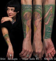 alphonse mucha tattoo forearm - Google Search