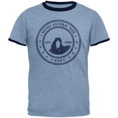 Arches National Park Vintage Heather Blue Men's Ringer T-Shirt