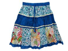 Indi Fashion Short Skirt Hippie Gypsy Floral Printed Crinkle Skirt'S | eBay $14.99