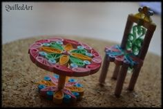 quilling furniture 3d Quilling, Quilling Designs, Quilling Ideas, Quilled Paper Art, Diy Paper, Paper Crafts, Crafts To Make, Diy Crafts, Decorative Items