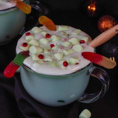 This Witches Brew Hot Chocolate is a Halloween Hot Chocolate that's both fun and easy to make in just a few minutes! It's the perfect spooky hot drink for trick or treaters on a chilly Halloween night, a Halloween party or a scary movie night! This Witches brew drink is not only popular at Halloween, but it's also ideal for any type of witch themed party! My kids are teenagers and still get excited when I make them fun and festive drinks like this!
