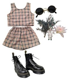 """clarissa"" by morgi3v ❤ liked on Polyvore featuring Dr. Martens, men's fashion and menswear"
