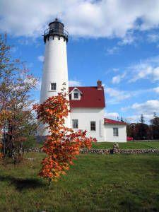 Michigan Lighthouse:  Point Iroquois Light Station