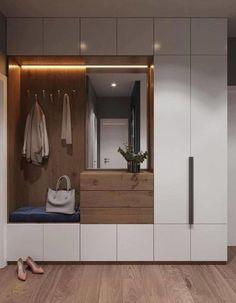 Attic Bedroom Storage, Bedroom Closet Design, Modern Bedroom Design, Home Room Design, Bedroom Organization, Organization Ideas, Wardrobe Interior Design, Wardrobe Door Designs, Home Interior Design