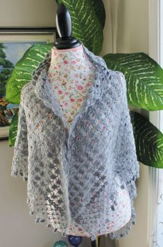 Ready to ship /GORGEOUS Handmade Crochet Smoky Gray by ufer, $85.00