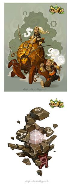 Novas artes do game Dofus, por Charlene le Scanff | THECAB - The Concept Art Blog