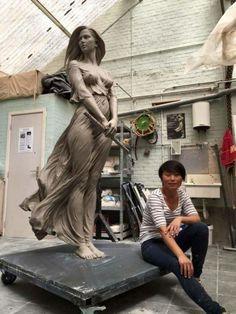"""Sculptor chinez a creat o statuie """"vie"""". Îți vine s-o atingi pentru a te convinge că nu respiră ⋆"""