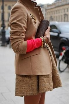 Love that small pop of color peaking out from the sleeve of the coat!  Follow us on #facebook: http://www.facebook.com/MODEBayArea