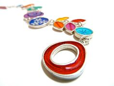 Colorful bracelet,sterling silver,resin inlay by tamirodrig on Etsy $290