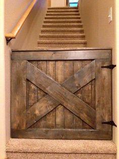 Barn wood baby gate