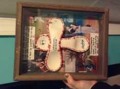 made this for valentines day for my boyfriend (: baseballcross Baseball Party, Baseball Gifts, Baseball Jewelry, Softball Gifts, Boyfriend Gifts, My Boyfriend, Boyfriend Ideas, Be My Valentine, Valentine Day Gifts