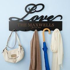 Personalized Love Coat Rack