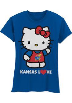 Kansas Jayhawks T-Shirt - Youth Royal Hello Kitty Love Me Do T-Shirt http://www.rallyhouse.com/shop/kansas-jayhawks-kansas-jayhawks-tshirt-youth-royal-hello-kitty-love-me-do-tshirt-200611 $22.99